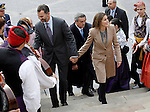 Prince Felipe of Spain and Princess Letizia of Spain visit Caspe village on November 7, 2012 in Alcaniz, Teruel, Spain. (ALTERPHOTOS/Acero)