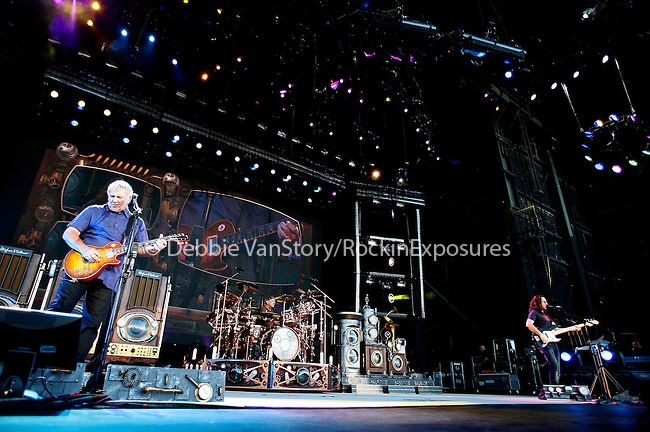"Geddy Lee,Alex Lifeson and Neal Peart of RUSH performs live at the opening night of ""An Evening with RUSH"" Tour held at Hard Rock Casino Pavillion in Albuquerque, New Mexico on June 29,2010                                                                   Copyright 2010  Rod Tanaka / RockinExposures"