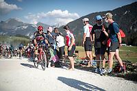 Jasper de Buyst (BEL/Lotto-Soudal) at the gravel section atop the Montée du plateau des Glières (HC/1390m)<br /> <br /> Stage 18 from Méribel to La Roche-sur-Foron (175km)<br /> <br /> 107th Tour de France 2020 (2.UWT)<br /> (the 'postponed edition' held in september)<br /> <br /> ©kramon