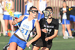 Santa Barbara, CA 02/18/12 - Katie Mitchell (UCSB #21) and Jessica Naluai (Washington #21) in action during the UCSB-Washington matchup at the 2012 Santa Barbara Shootout.  UCSB defeated Washington