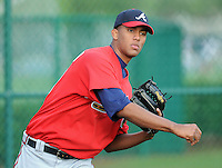 17 March 2009: Pitcher Randall Delgado of the Atlanta Braves  at Spring Training camp at Disney's Wide World of Sports in Lake Buena Vista, Fla. Photo by:  Tom Priddy/Four Seam Images