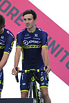 Adam Yates (GBR) Orica-Scott at the Team Presentation in Alghero, Sardinia for the 100th edition of the Giro d'Italia 2017, Sardinia, Italy. 4th May 2017.<br /> Picture: Eoin Clarke | Cyclefile<br /> <br /> <br /> All photos usage must carry mandatory copyright credit (&copy; Cyclefile | Eoin Clarke)