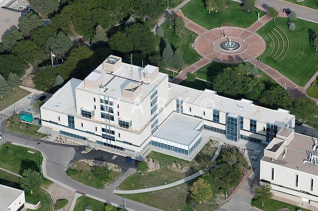 aerial of Library at University of Colorado at Pueblo