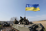 Ukrainische Einheiten bei Kramatorsk
