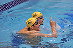 24 MAR 2012: Will Hampton and Thomas Shields of California celebrate after finishing first and second in the 200 yard butterfly race during the Division I Men's Swimming and Diving Championship held at the Weyerhaeuser King County Aquatic Center in Seattle, WA.  The race was won by Will Hampton's winning time was 1:40.94  Rod Mar/ NCAA Photos