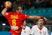 19.01.2013 World Championshio Handball. Match between Spain vs Croatia (25-27) at the stadium La Caja Magica. The picture show  Victor Tomas Gonzalez (Right Wing of Spain)