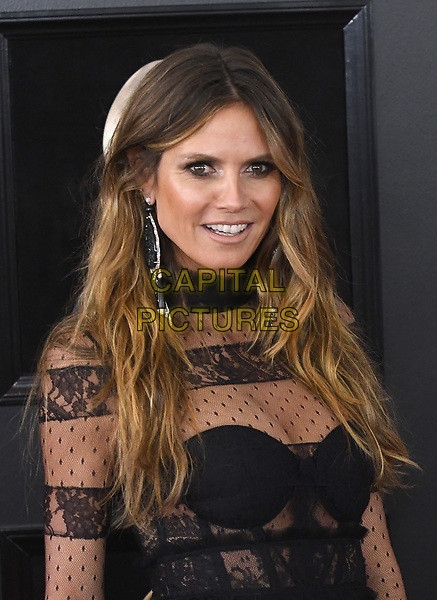 NEW YORK, NY - JANUARY 28: Heidi Klum at the 60th Annual GRAMMY Awards at Madison Square Garden on January 28, 2018 in New York City. <br /> CAP/MPI/JP<br /> &copy;JP/MPI/Capital Pictures
