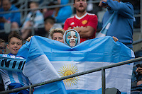 Seattle, WA - Tuesday June 14, 2016: Fan prior to a Copa America Centenario Group D match between Argentina (ARG) and Bolivia (BOL) at CenturyLink Field