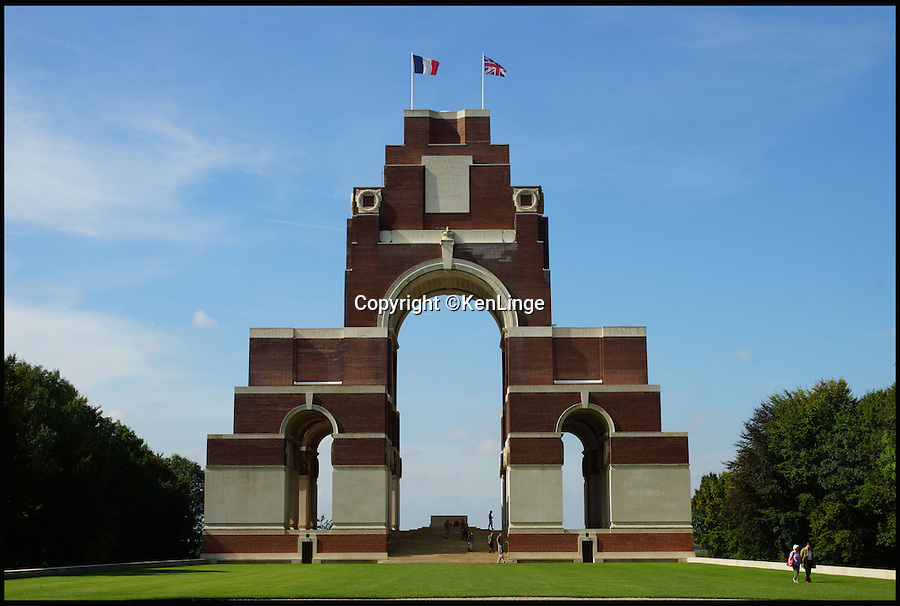 BNPS.co.uk (01202 558833)<br /> Pic: KenLinge/BNPS<br /> <br /> The Thiepval Memorial in France<br /> <br /> Faces finally put to the lost souls of the Western Front...<br /> <br /> A dedicated couple have spent 10 years tracking down the family histories of some of the 72,000 British troops still 'missing' from the Somme.<br /> <br /> Ken and Pam Linge from Northumberland have spent 10 years researching the thousands of British soldiers who were lost during the ill-fated offensive of 1916, and have finally put faces to some of the names engraved in history.<br /> <br /> They have also revealed the fascinating stories and diverse backgrounds behind some of the men who are listed on Lutyen's famous Thiepval Memorial in France as having no known grave.<br /> <br /> Their work has resulted in a new book titled 'Missing But Not Forgotten' that documents 230 of these men.
