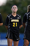 17 September 2015: Appalachian State's Aubrey Fletcher. The Duke University Blue Devils hosted the Appalachian State University Mountaineers at Koskinen Stadium in Durham, NC in a 2015 NCAA Division I Women's Soccer match. Duke won the game 6-0.
