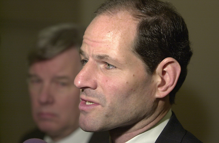 3spitzer110801 -- Eliot Spitzer, Attorney General NY, addresses media in the Longworth Building on Thursday, after testifying.  Spitzer feels that charitable organizations, including the  American Red Cross, has collected to much money from the events of September 11.