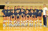 2014 MSU Ladybobcat Volleyball Team