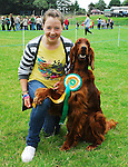 Alice Shally from Hollymount with her red setter Ruby was winner of best dog at the Tourmakeady agricultural show...Pic Conor McKeown