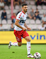 KORTRIJK , BELGIUM - AUGUST 03 : Brendan Hines-Ike of Kortrijk pictured during the Jupiler Pro League match day 2 between Kv Kortrijk and Sporting Charleroi on August 03 , 2019 in Kortrijk , Belgium . ( Photo by David Catry / Isosport )
