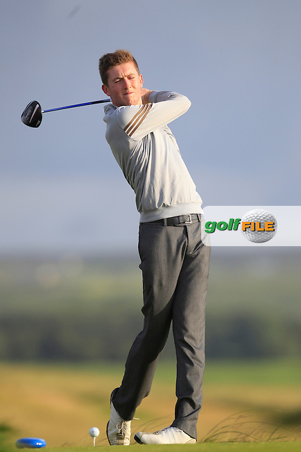 Neil McKinstry (Cairndhu) on the 2nd tee during Round 2 of the South of Ireland Amateur Open Championship at LaHinch Golf Club on Thursday 23rd July 2015.<br /> Picture:  Golffile | Thos Caffrey