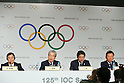 (L to R) <br /> Masato Mizuno, <br /> Tsunekazu Takeda, <br />  Shinzo Abe, <br />  Naoki Inose, <br /> SEPTEMBER 7, 2013 : <br /> The press conference after their presentation of 2020 Summer Olympic Games bid final presentation during the 125th International Olympic Committee (IOC) session in Buenos Aires Argentina, on Saturday September 7, 2013. <br /> (Photo by YUTAKA/AFLO SPORT) [1040]