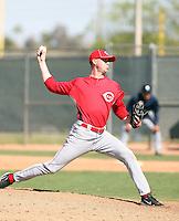 Scott Gaffney, Cincinnati Reds 2010 minor league spring training..Photo by:  Bill Mitchell/Four Seam Images.