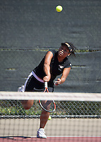 Occidental College women's tennis team plays against Caltech at Oxy on April 4, 2015.<br />
