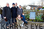Adam Neary and Lucy Breen who unvailed the 1916 Proclamation monument in Beaufort on Saturday with standing l-r; Seamus and Eanna O Maille, Prioncias Mac Curtain and Eileen O'neill
