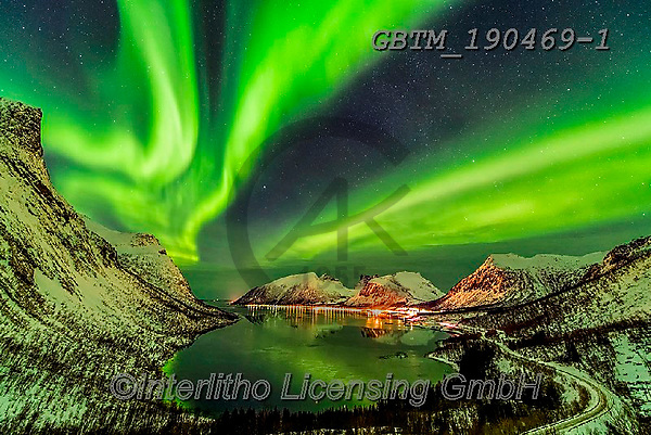 Tom Mackie, LANDSCAPES, LANDSCHAFTEN, PAISAJES, photos,+Europe, Iceland, Lofoten Islands, Northern Lights, Norway, Norwegian, Scandinavia, Senja, Tom Mackie, arctic circle, aurora b+orealis, dramatic outdoors, fjord, horizontal, horizontals, illuminate, illuminating, illumination, landscape, landscapes, li+ght, mountain, mountainous, mountains, nobody, reflect, reflecting, reflection, reflections, snow, water, weather, winter, wi+ntery,Europe, Iceland, Lofoten Islands, Northern Lights, Norway, Norwegian, Scandinavia, Senja, Tom Mackie, arctic circle, au+,GBTM190469-1,#l#, EVERYDAY