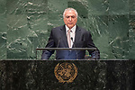 DSG meeting<br /> <br /> AM Plenary General DebateHis<br /> <br />  Excellency Michel Temer, President, Federative Republic of Brazi