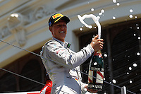 24.06.2012. Valencia, Spain. FIA Formula One World Championship 2012 Grand Prix of Europe Race.  The picture show  Michael Schumacher (German driver of Mercedes GP)