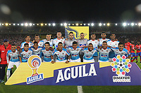 BOGOTA - COLOMBIA, 12-06-2019: Jugadores de Junior posan para una foto previo al e partido de vuelta por la final de la Liga Águila I 2019 entre Deportivo Pasto y Atlético Junior jugado en el estadio Nemesio Camacho El Campín de la ciudad de Bogotá. / Players of Junior pose to a photo prior Second leg final second leg match of the Aguila League I 2019 between Deportivo Pasto and Atletico Junior played at Nemesio Camacho El Campin stadium in Bogota city. Photo: VizzorImage / Felipe Caicedo / Staff