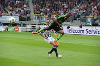 VOETBAL: HEERENVEEN: Abe Lenstra Stadion, 02-09-2012, Eredivisie 2012-2013, SC Heerenveen - Ajax, Eindstand 2-2, Thulani Serero (#25 | Ajax), Ramon Zomer (#23 | SCH), ©foto Martin de Jong