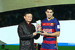 Luis Suarez (Barcelona), <br /> DECEMBER 20, 2015 - Football / Soccer : <br /> FIFA Club World Cup Japan 2015 <br /> award ceremony  <br /> at Yokohama International Stadium in Kanagawa, Japan.<br /> (Photo by Yohei Osada/AFLO SPORT)