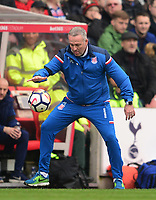 Manager of Stoke, Paul Lambert during the EPL - Premier League match between Chelsea and West Ham United at Stamford Bridge, London, England on 8 April 2018. Photo by PRiME Media Images.