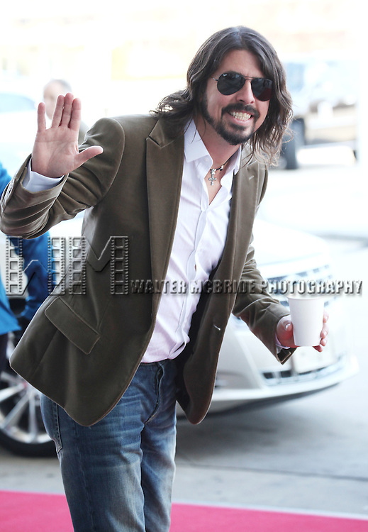Dave Grohl (Foo Fighters)  attending the Rehearsals for the 35th Kennedy Center Honors at Kennedy Center in Washington, D.C. on December 2, 2012