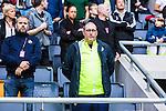 Stockholm 2015-07-30 Fotboll Kval Uefa Europa League  AIK - Atromitos FC :  <br /> AIK:s Jonas Galotta p&aring; l&auml;ktaren inf&ouml;r matchen mellan AIK och Atromitos FC <br /> (Foto: Kenta J&ouml;nsson) Nyckelord:  AIK Gnaget Tele2 Arena UEFA Europa League Kval Kvalmatch Atromitos FC Grekland Greece portr&auml;tt portrait supporter fans publik supporters