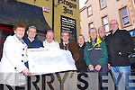 Members of the Bill Kirby Memorial Walk presented a Cheque for €10,783.51 to the Palliative Care Unit at Kerry General Hospital on Monday. Pictured Left to Right Sheila O'Sullivan, Ted Moynihan, Michael Fox O'Connor, Pat Hussey (mayor of Tralee), John Lynch, Michael Gaffney, Frank Graney and Andrew O'Sullivan