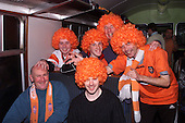 Blackpool fans on their way to Arsenal......© Phill Heywood.tel 07806 775649