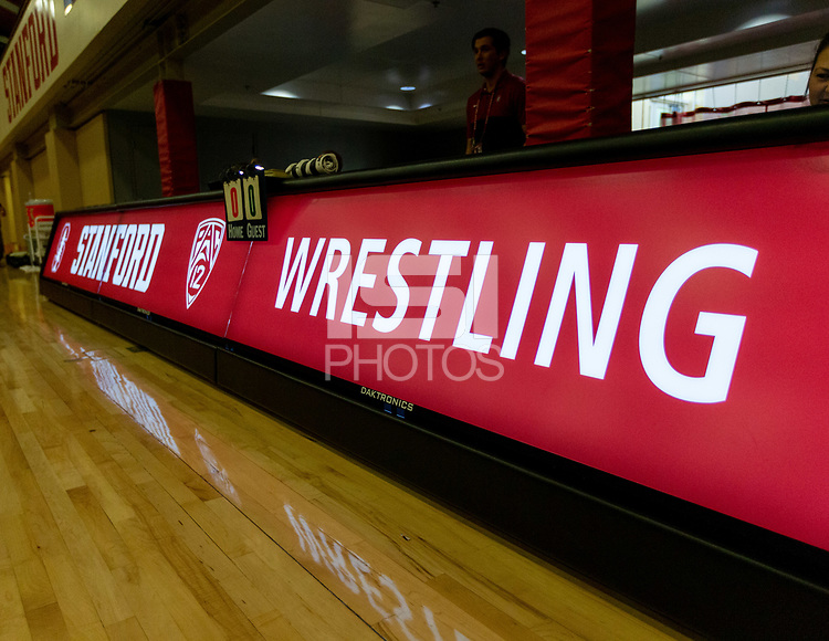Stanford, California - February 9, 2020: Stanford Wrestling defeats Oregon State 25-12 at Burnham Pavilion in Stanford, California.