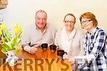 Ger, Marguerite and Karen Brosnan relaxing at home enjoying a cup of tea on Tuesday