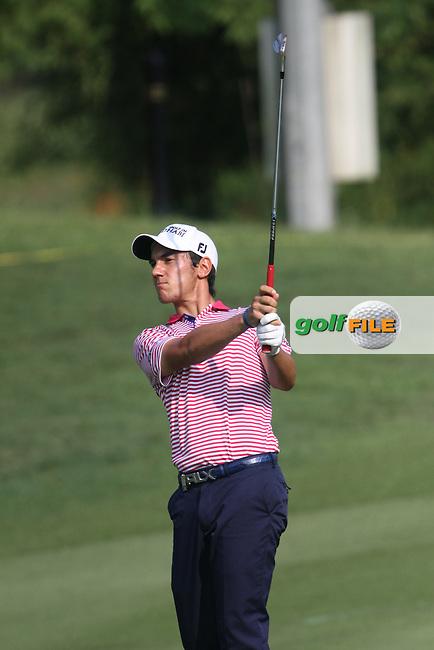 Matteo Manassero (ITA) on the 18th during the Resumed Round 1 of the 2013 Maybank Malaysian Open, Kuala Lumpur Golf and Country Club, Kuala Lumpur, Malaysia 22/3/13...(Photo Jenny Matthews/www.golffile.ie)