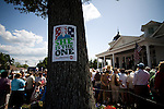 May 4, 2008. Morganton, NC.. Just 2 days before the North Carolina primary, former president Bill Clinton campaigned across rural western North Carolina, stumping for his wife. Senator Hillary Clinton, in her drive for rural and working class votes.. A Hillary sign tacked to a tree at the site of former President Clinton's speech.