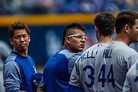Julio Urias.<br /> Acciones del partido de beisbol, Dodgers de Los Angeles contra Padres de San Diego, tercer juego de la Serie en Mexico de las Ligas Mayores del Beisbol, realizado en el estadio de los Sultanes de Monterrey, Mexico el domingo 6 de Mayo 2018.<br /> (Photo: Luis Gutierrez)