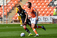 Blackpool's Clark Robertson competes with Milton Keynes Dons' Robbie Muirhead<br /> <br /> Photographer Richard Martin-Roberts/CameraSport<br /> <br /> The EFL Sky Bet League One - Blackpool v Milton Keynes Dons - Saturday August 12th 2017 - Bloomfield Road - Blackpool<br /> <br /> World Copyright &copy; 2017 CameraSport. All rights reserved. 43 Linden Ave. Countesthorpe. Leicester. England. LE8 5PG - Tel: +44 (0) 116 277 4147 - admin@camerasport.com - www.camerasport.com
