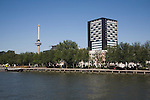 Euromast and Westerlaantoren building Rotterdam Netherlands from the River Maas