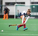 HUIZEN  -   Eva den Hartog (HUI) , hoofdklasse competitiewedstrijd hockey dames, Huizen-Groningen (1-1)   COPYRIGHT  KOEN SUYK