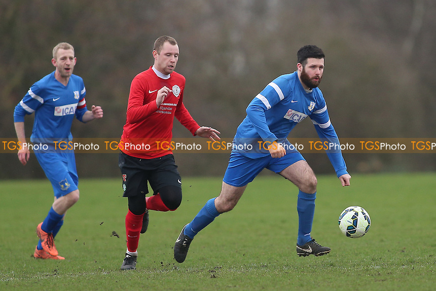 Wenlock Arms (red) vs Gladstone Wanderers, Hackney & Leyton Sunday League Jack Morgan Cup Semi-Final Football at Hackney Marshes on 26th February 2017