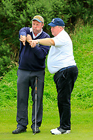 Brendan McConnell (Ardee) and Raymond Brady (Ardee) during the final round of the All Ireland Four Ball Interclub Final, Roe Park resort, Limavady, Derry, Northern Ireland. 15/09/2019.<br /> Picture Fran Caffrey / Golffile.ie<br /> <br /> All photo usage must carry mandatory copyright credit (© Golffile | Fran Caffrey)