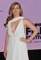 Amy Adams at the &quot;Arrival&quot; 60th BFI London Film Festival Royal Bank of Canada gala film screening, Odeon Leicester Square cinema, Leicester Square, London, England, UK, on Monday 10 October 2016.<br /> CAP/CAN<br /> &copy;CAN/Capital Pictures /MediaPunch ***NORTH AND SOUTH AMERICAS ONLY****