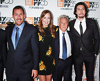 NEW YORK, NY October 01, 2017 Adam Sandler, Elizabeth Marvel, Dustin Hoffman, Adam Driver attend 55th New York Film Festival premiere of The Meyerowitz Stories at Alice Tully Hall Lincoln Center in New York October 01,  2017.<br /> CAP/MPI/RW<br /> &copy;RW/MPI/Capital Pictures