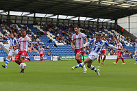 Sammie Szmodics of Colchester United with a shot on goal during Colchester United vs Stevenage, Sky Bet EFL League 2 Football at the Weston Homes Community Stadium on 12th August 2017