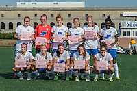 Allston, MA - Sunday July 17, 2016: Boston Breakers Starting Eleven prior to a regular season National Women's Soccer League (NWSL) match between the Boston Breakers and Sky Blue FC at Jordan Field.