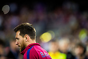12th September 2017, Camp Nou, Barcelona, Spain; UEFA Champions League Group stage, FC Barcelona versus Juventus; Leo Messi of FC Barcelona goes onto the pitch