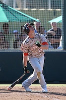 Blake Rutherford (24) of Chaminade High School bats against Harvard Westlake High School at O'Malley Field on March 16, 2016 in Encino, California. (Larry Goren/Four Seam Images)